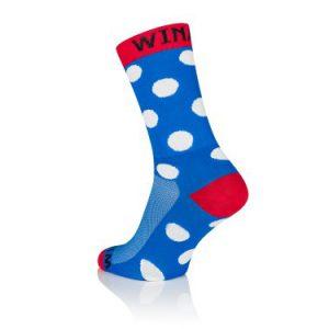 Winaar Blauw Rood Witte Stippen Sokken