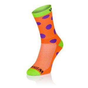 Winaar Oranje Groen Paarse Stippen Sokken