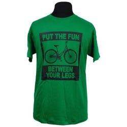 Cyclette T-shirt Between Your Legs Groen