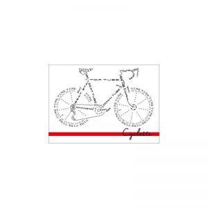 Cyclette Ansichtkaart Fiets Tekst