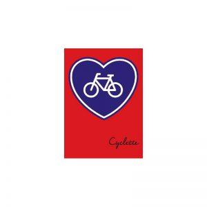 Cyclette Ansichtkaart Hartje