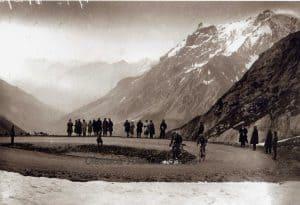 Oude Wielrenfoto's Ansichtkaarten Set Bottecchia galibier 1924