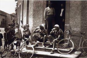 Oude Wielrenfoto's Ansichtkaarten Set Break 1921
