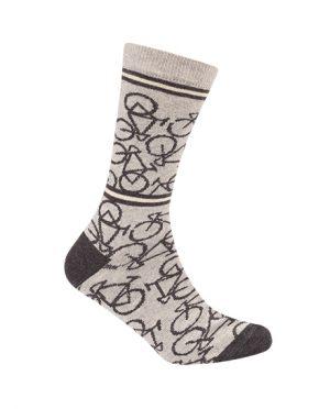 Productfoto van Le Patron Bicycle Light Grey Sokken