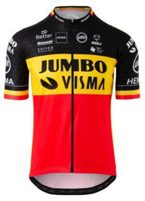 Productfoto van AGU Jumbo-Visma Wielershirt Belgisch kampioen Heren